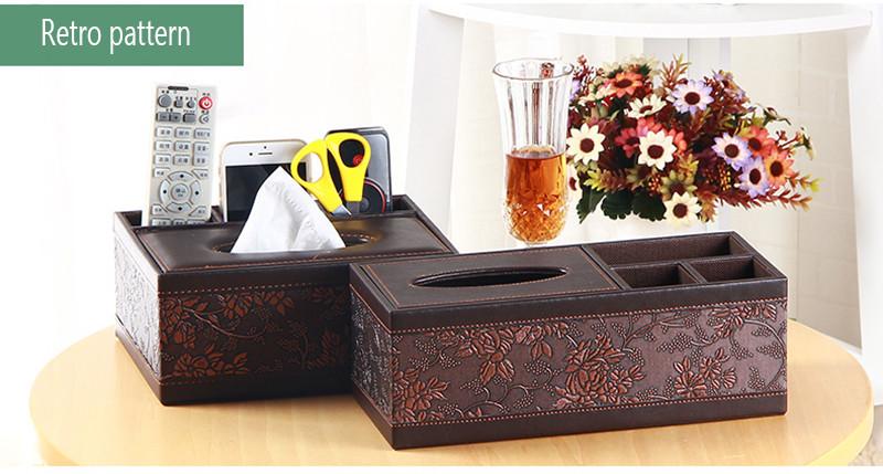 ᑐtitolare della scatola del tessuto in pelle semplice bella