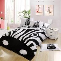 Black And White Leopard Print Bedding