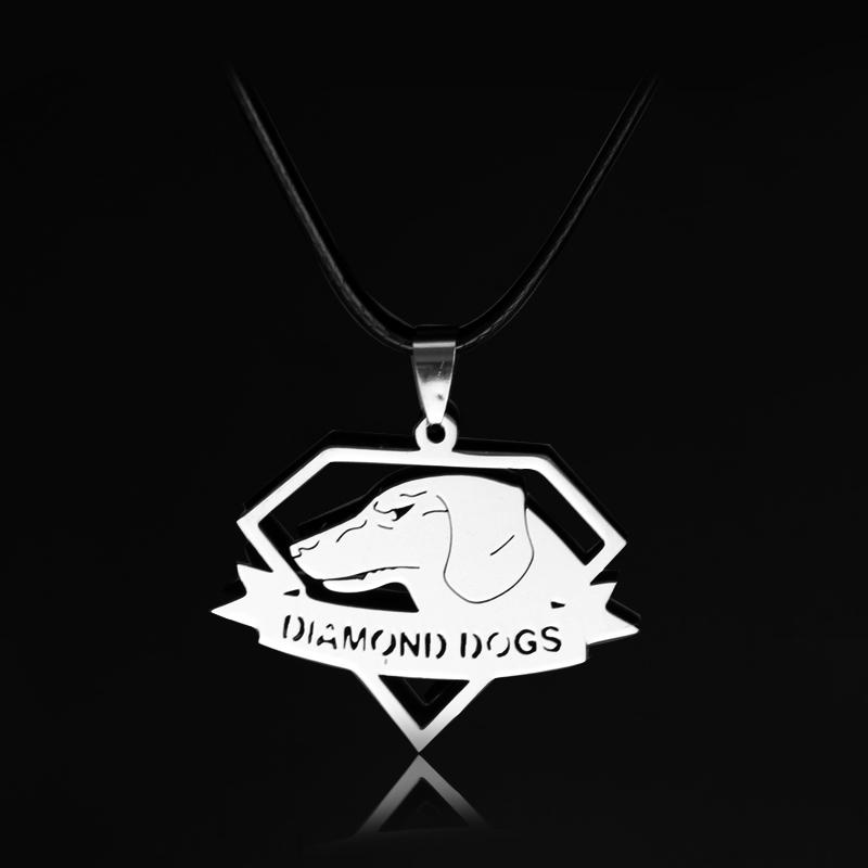 Jeu PS4 Metal Gear Solid V Logo Métal Pendentif Keychain