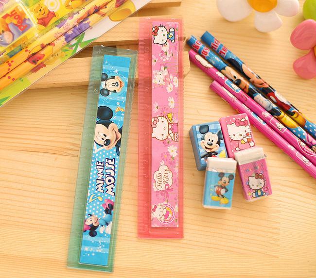 2624331046_1758922470  10packs/lot 5 in One Disny Mickey Snowwhite Kitty Pencil Writing Pen Stationery Kits Children Birthday Occasion Favor Take-home Items HTB1rN13NpXXXXc9XFXXq6xXFXXX3