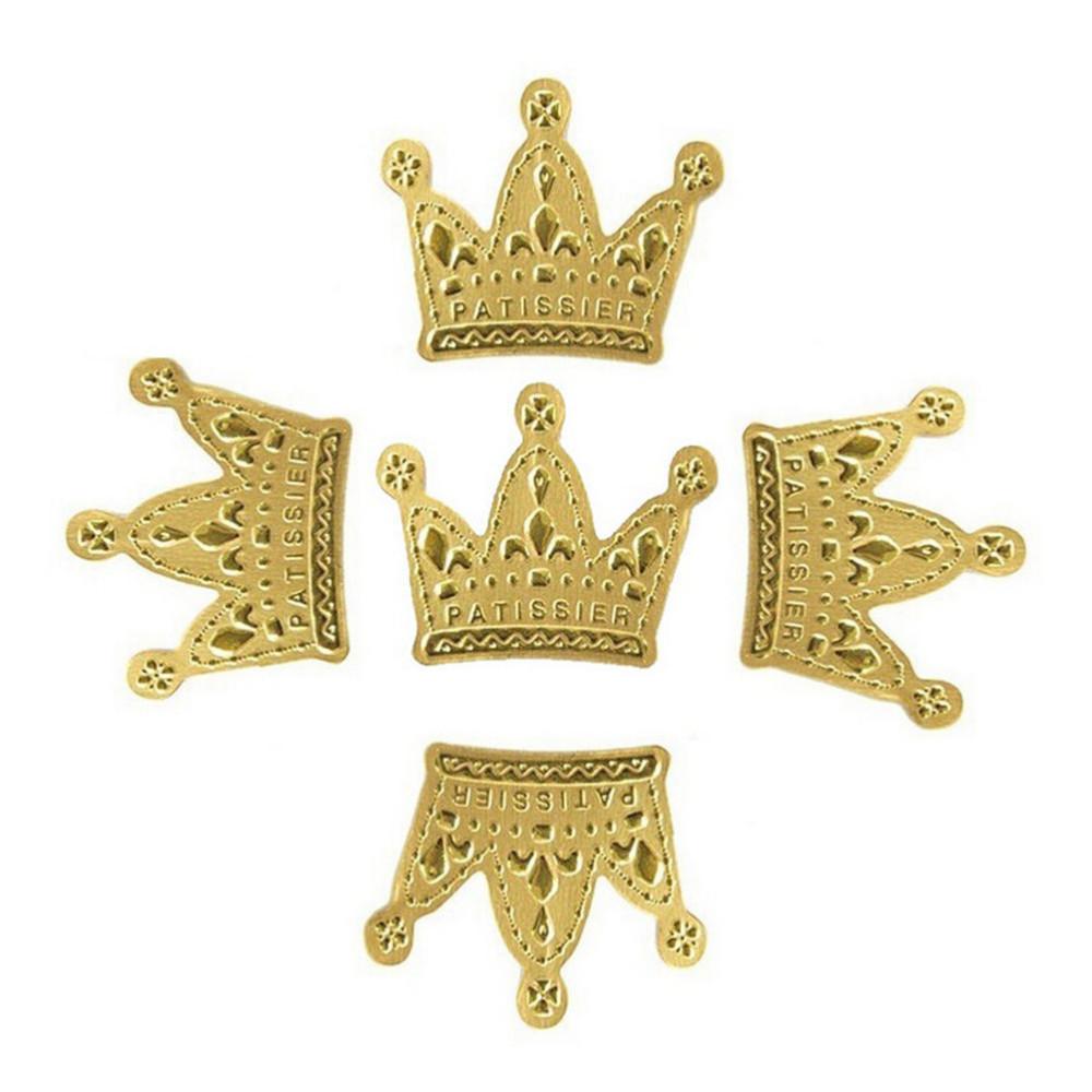 ჱ50 Pcs Paper Gold Princess Crown Topper Favors Party Cake Cupcake ...