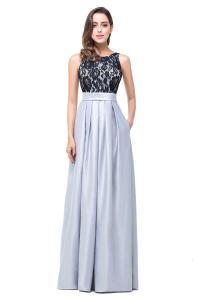 Robe Demoiselle D'honneur Silver Lace Bridesmaid Dresses ...