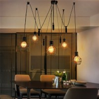 Europe vintage Loft Industrial Style Iron Cages Pendant ...