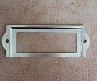 Vintage Silver Metal label holders for drawers antique ...
