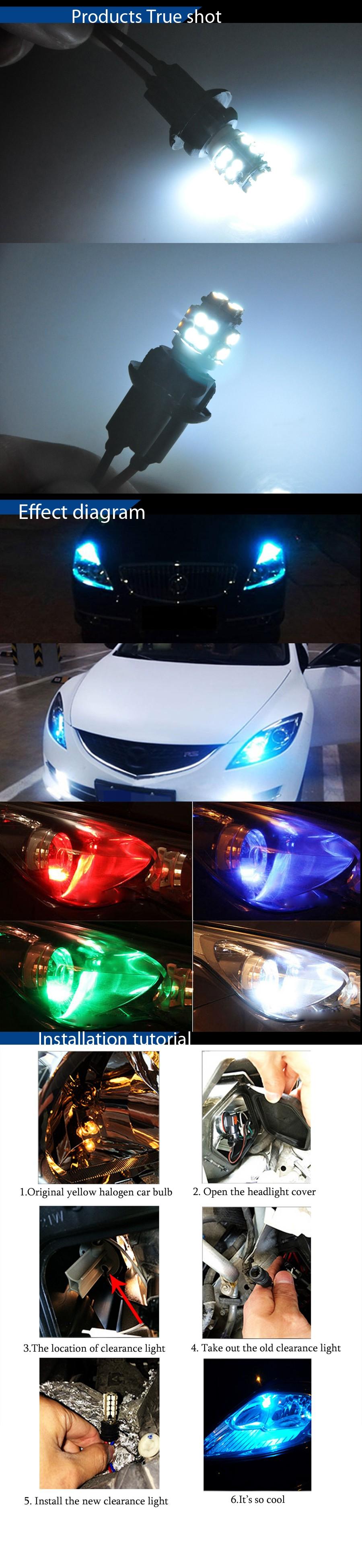 ⃝Autoec 10X T10 194 168 w5w 20smd 1210 3528 LED auto coche marcador ...