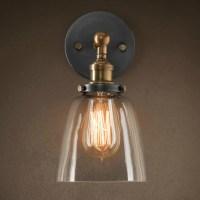 Vintage E27 Glass Wall Sconces Lamps Retro Wall Mounted