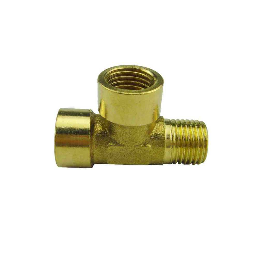 """free shipping 1/4"""" brass tee Gas pipe fittings, brass"""