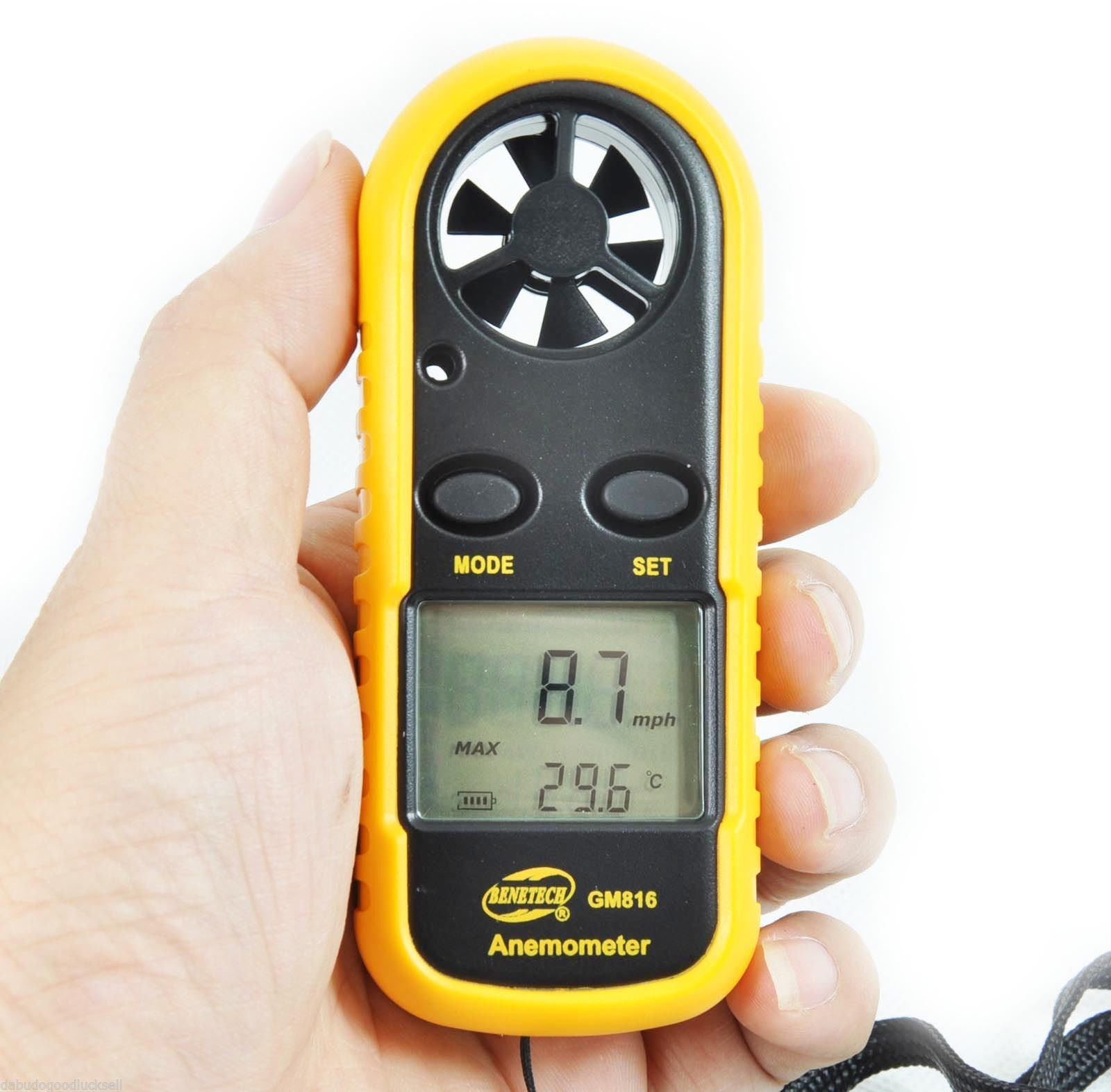 Lcd Pocket Smart Anemometer Air Wind Speed Scale Meter