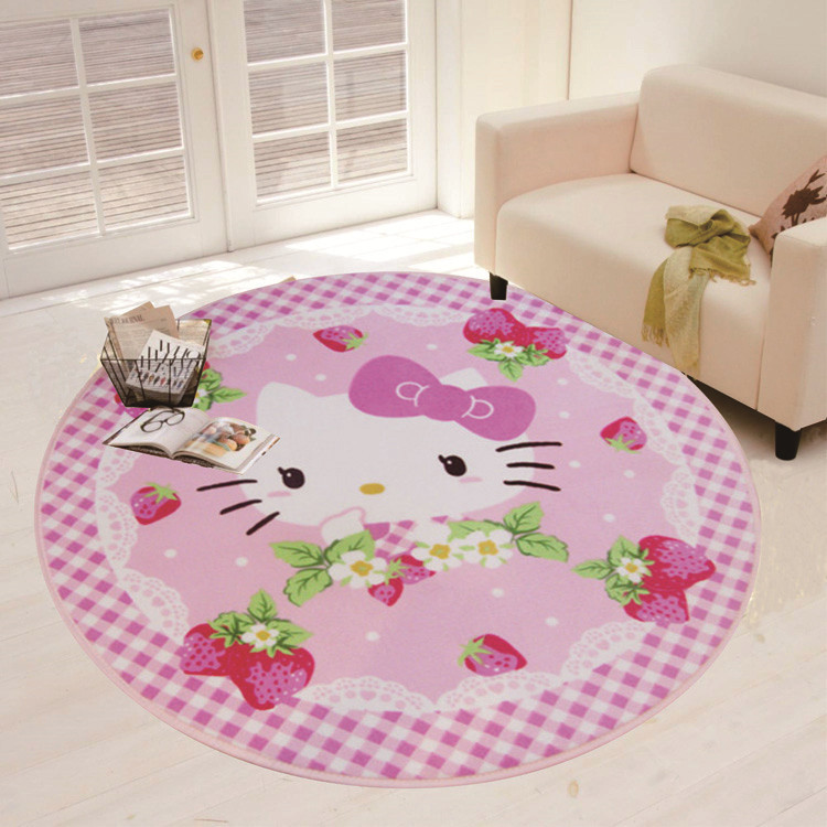 100x100cm Round Anti Slip Mat For Kitchen Bedroom Floor Rugs Yoga