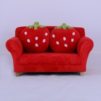 Kids Toddlers Sofa Lounge Couch Strawberry Double Seat ...