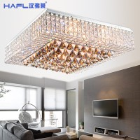 Modern Simple Square Living Room Crystal Lamp Led Ceiling ...