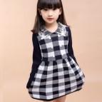 Old Little Girls Plaid Dress