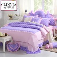 Princess style flower print Bedding set 4PCS 100% Cotton