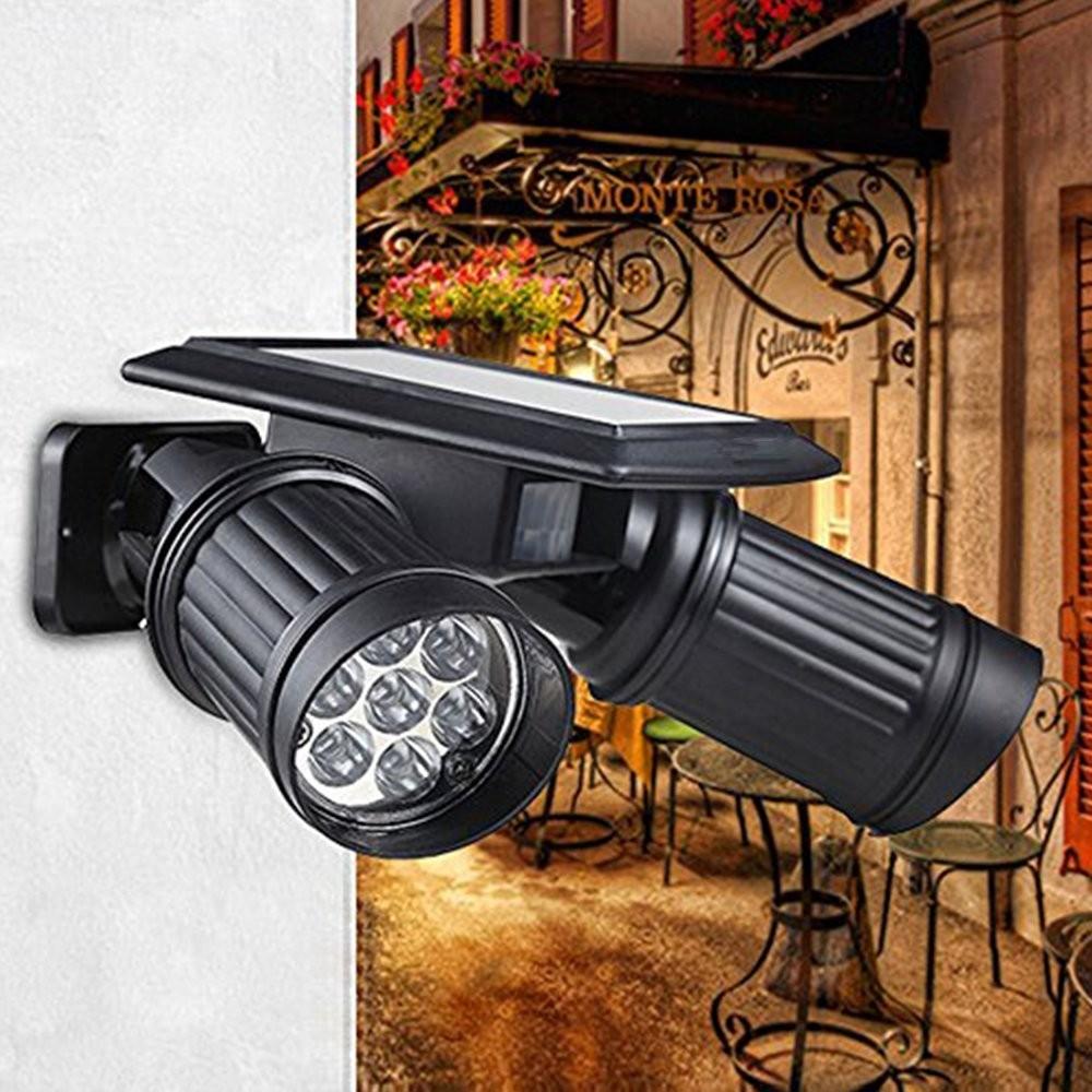 14 Led Solar Powered Lights Pir Motion Sensor Dual Head Spotlight Activated Dice Aeproduct