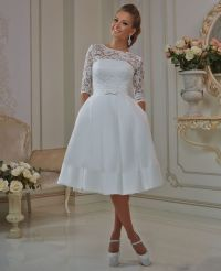 Simple Wedding Dresses Short - Junoir Bridesmaid Dresses