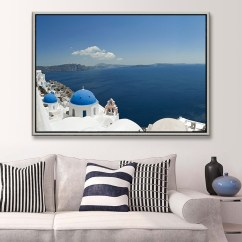 Paintings For Living Room Interior Decorating Ideas Free Shipping Modern Oil Painting Home Deco Wall Hanging Art Santorini Island Decorative Canvas Prints Cool Decor Olivia
