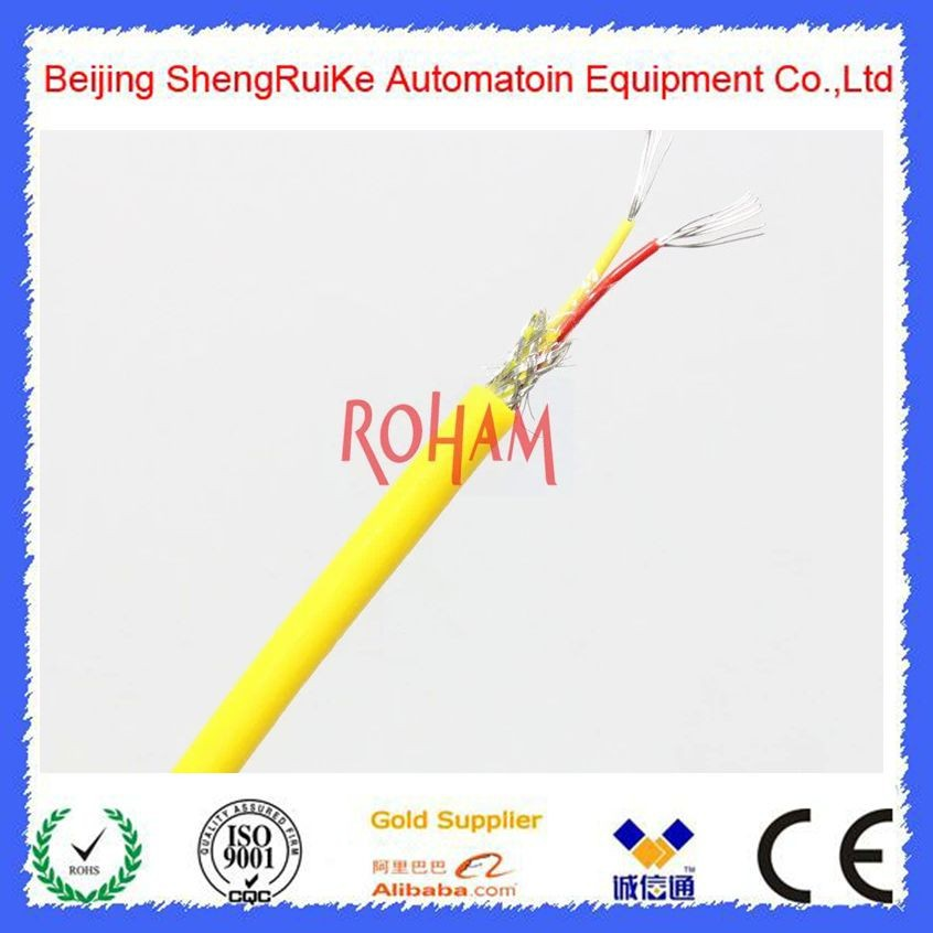 K-type thermocouple probe 50 to1200degrees Celsius flexible cable 300mm long TK