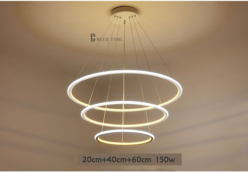 Moderne Lampen 67 : Ringe moderne led anhänger licht hanglamp acryl led anhänger