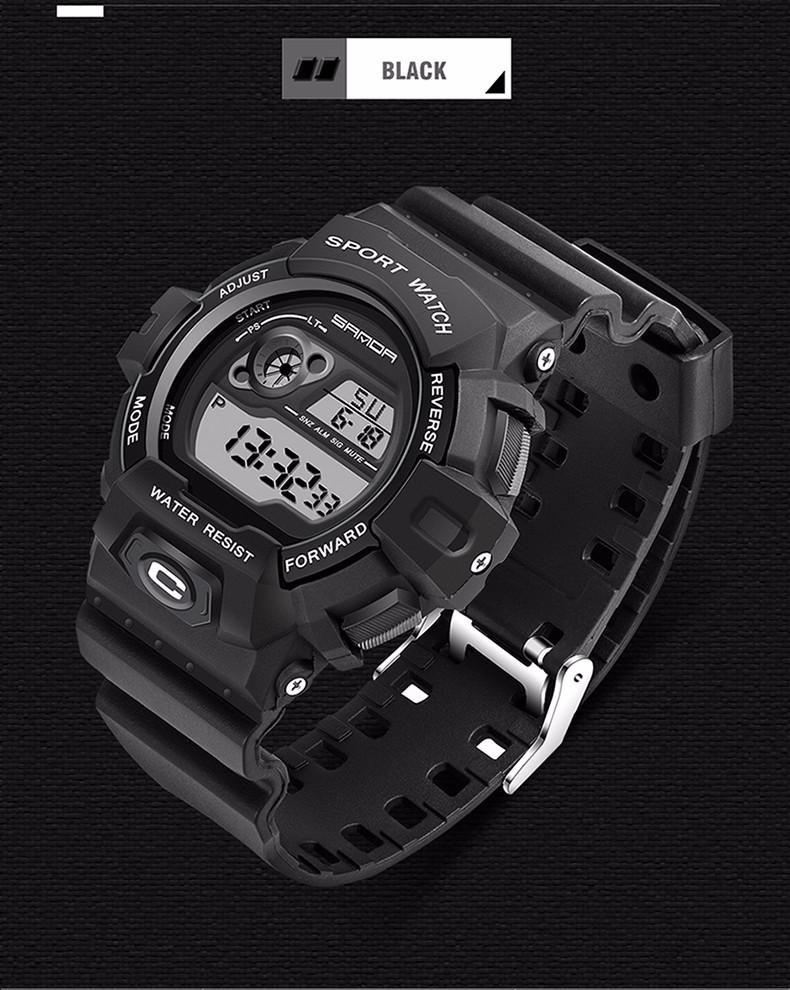 SANDA Moda Casual S Choque Relógio dos homens de Luxo Da Marca dos homens  do Cronógrafo de Quartzo Relógio Do Esporte Masculino relógio relogio  masculinoUSD ... e81faaa161