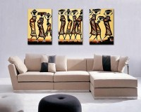 Free shipping abstract African figure print painting wall ...