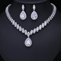Hot Clear Cubic Zircon Wedding Jewelry Sets ,Bridal ...
