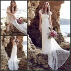 Lace Bohemian Beach Wedding Dress