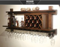 Madera europea bar display pared colgante de pared de ...