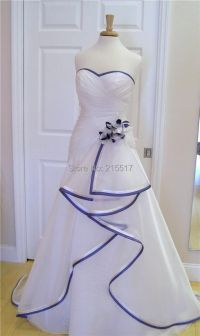 White w/royal blue trim-in Wedding Dresses from Weddings ...