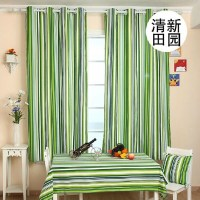 Striped Curtains Canvas Simple Modern Style Curtains For ...