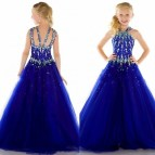 Blue Beauty Pageant Dresses for Girls