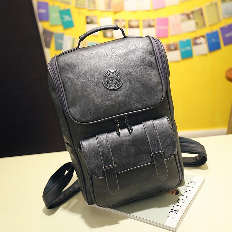 ee95bf8f7a2 Hoge Kwaliteit bagage mannen vrouwen reistassen voor Tiener jongens Meisjes  Mode Lederen laptop kånken Rugzak voor plunjezak Mochila
