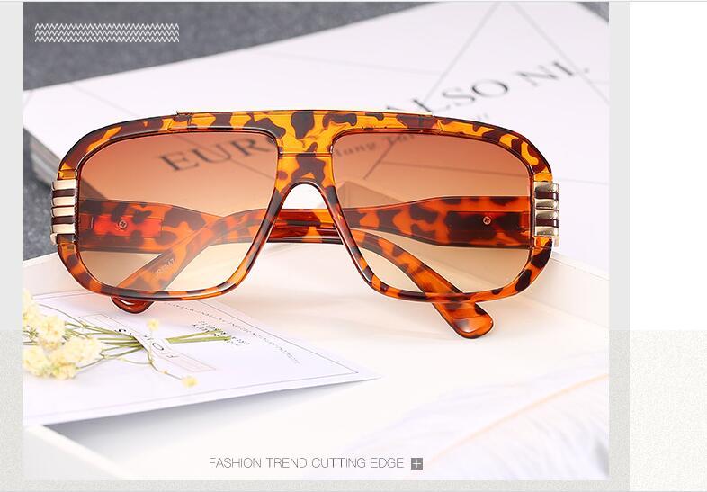 a7e6a8283f Moda Vintage de Gran Tamaño gafas de Sol Del Gradiente de Las Mujeres  Hombres 2107 Gafas Claras Anteojos Cuadrados de Oro Hombre Mujer Gafas De  Acetato