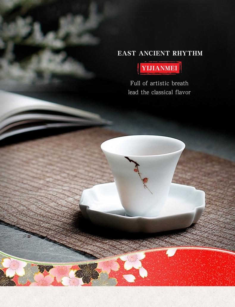 f25a00c0b2a ⑥Jingdezhen Pintadas À Mão Porcelana xícara de ameixa Gaiwan China ...