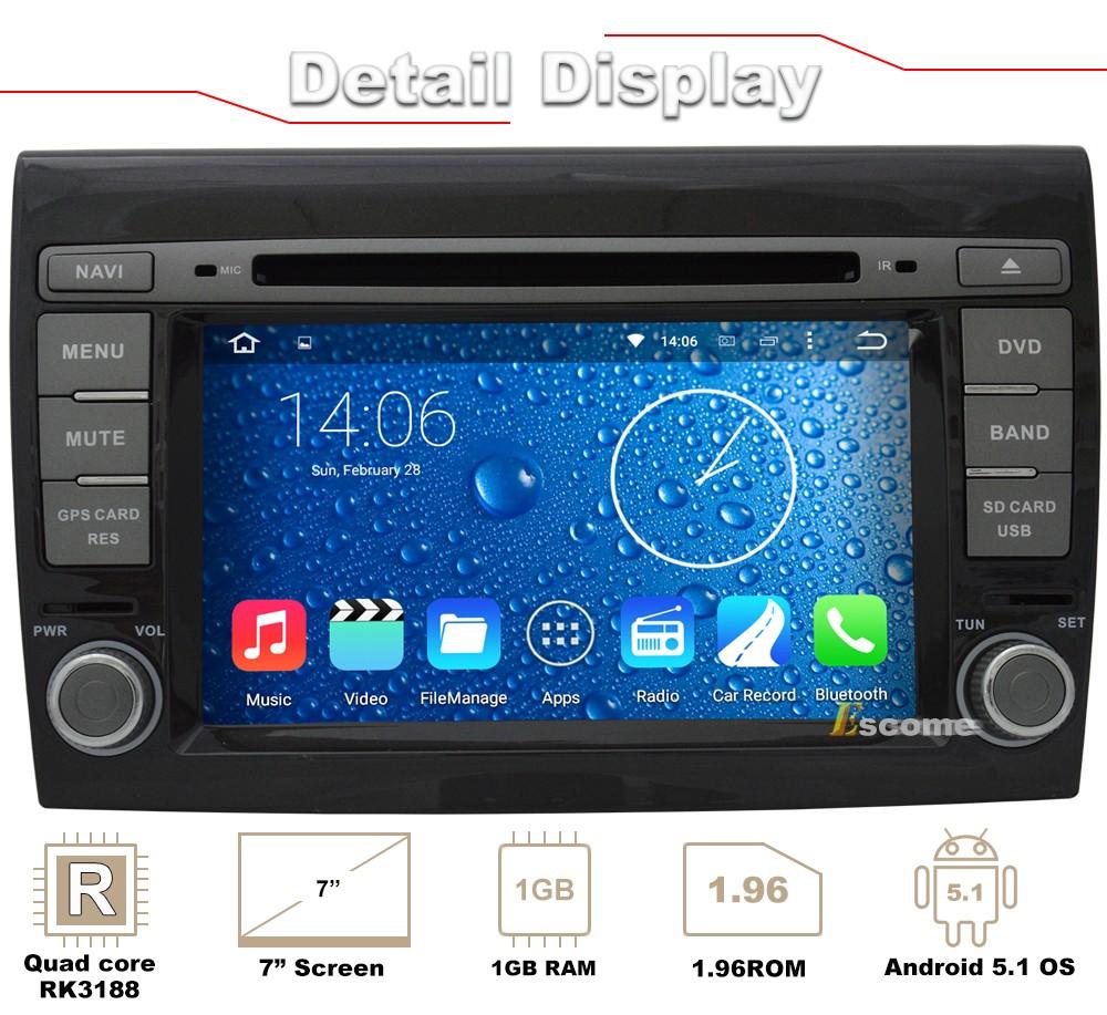 ᗛЧистый андроид 5.1 автомобиль DVD для <b>Fiat</b> Bravo 2007 2008 ...