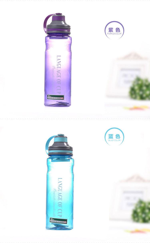 Mi botella de agua de plástico a prueba de fugas portátil deportes ...