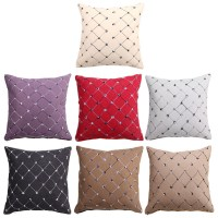 Multicolored Plaids Throw Pillow Case Square Pillow Bed ...