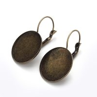10pc/lot Antique Bronze Dangle Earring Blanks Fit 20mm ...
