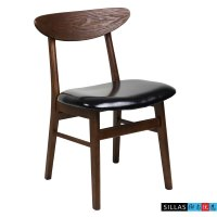 Nordic Korean black walnut wood dining chair neoclassical ...