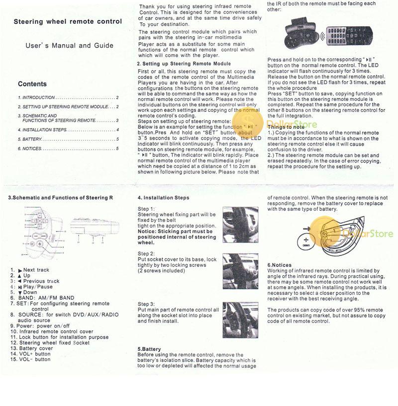 DollarStore buyable Car Universal Steering Wheel Remote