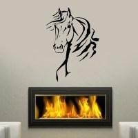 Horse head Animal wall stickers for living room Family ...