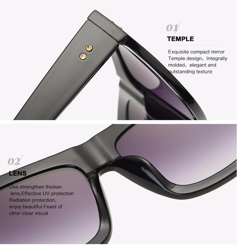 3d945711d2a9e Tom Oversize Óculos De Sol Das Mulheres Marca Shades Homens Retro Flat  Projeto do olho de Gato Óculos Vintage Óculos De Sol Feminino oculos de sol  feminino
