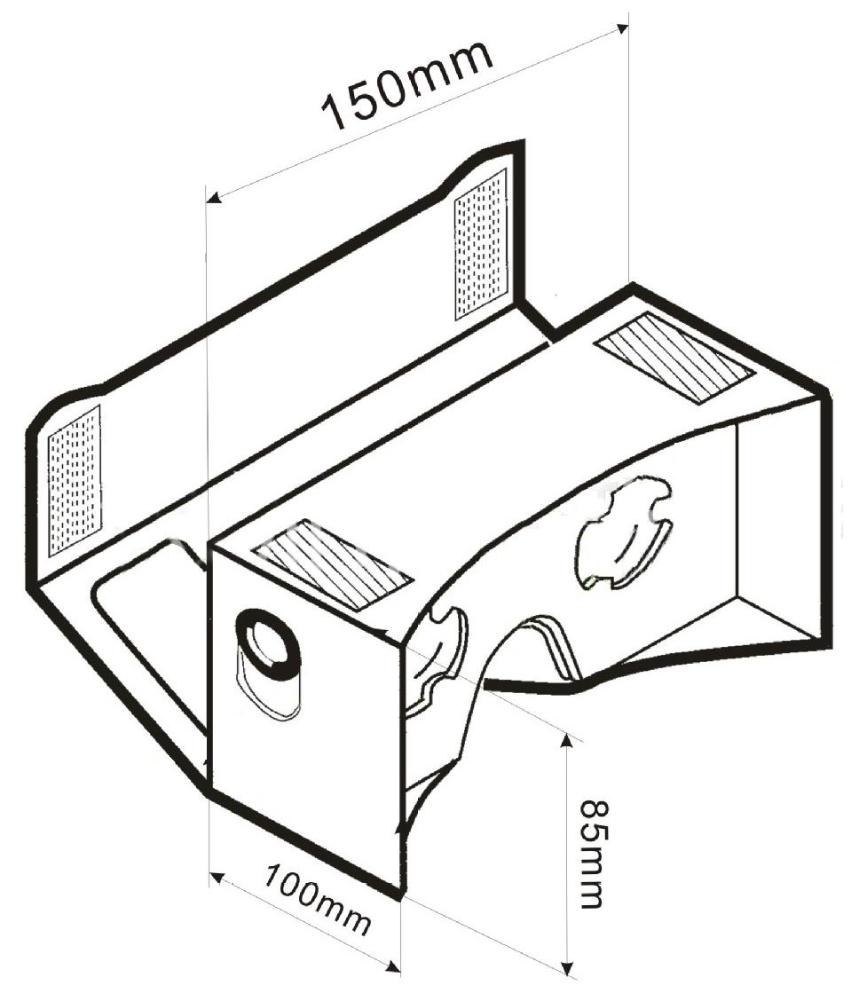 Google Cardboard Schematic, Google, Free Engine Image For