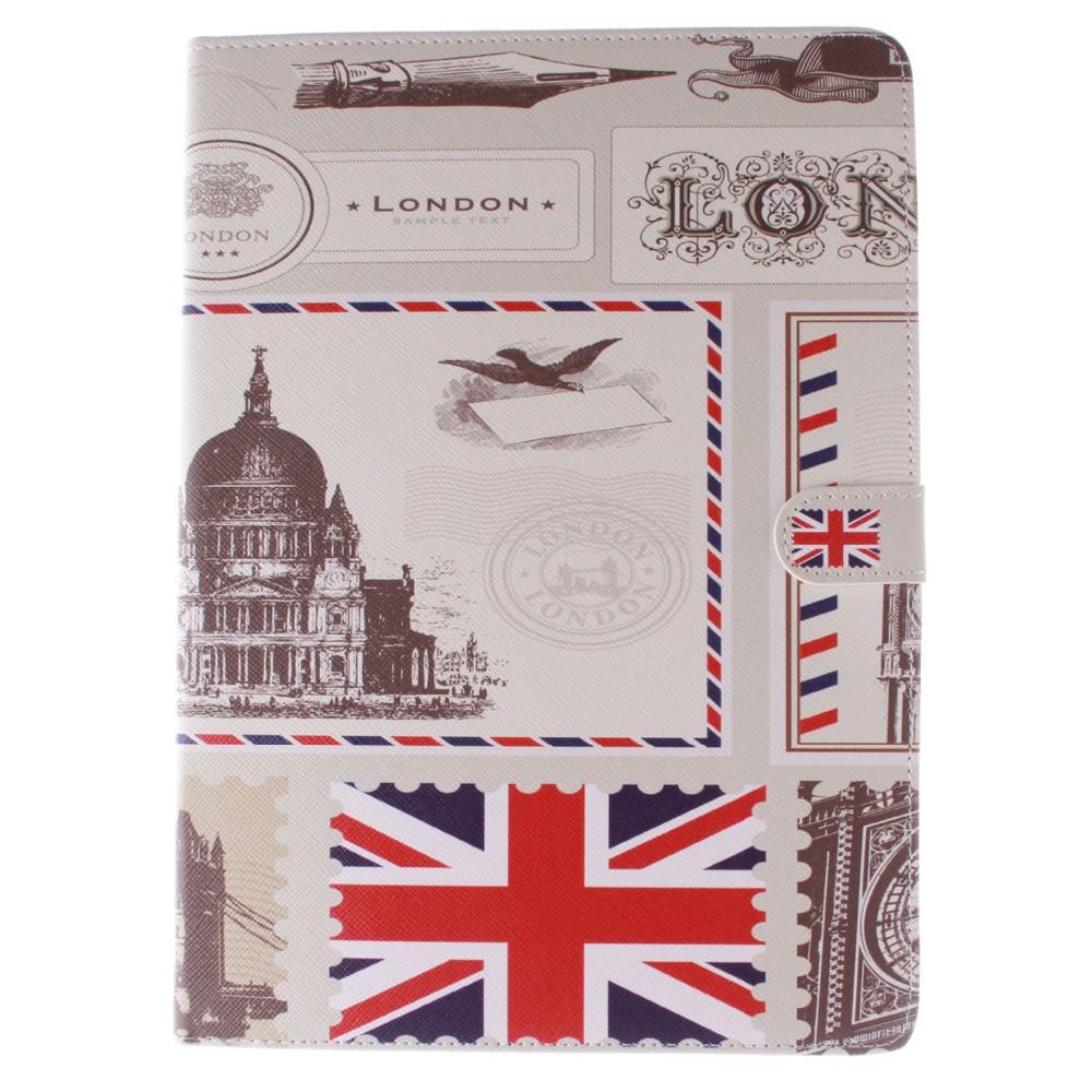 ̀ •́ Bandera británica plumas patrón pu cuero completo Cuerpo con ...