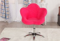 Pink Swivel chair office chair home chair flower fabric ...