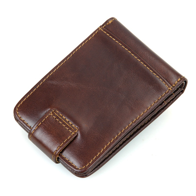 웃 유Ángel negro cerrojo Cuero auténtico RFID Tarjeta de bolsillo ... 999ceca17df2