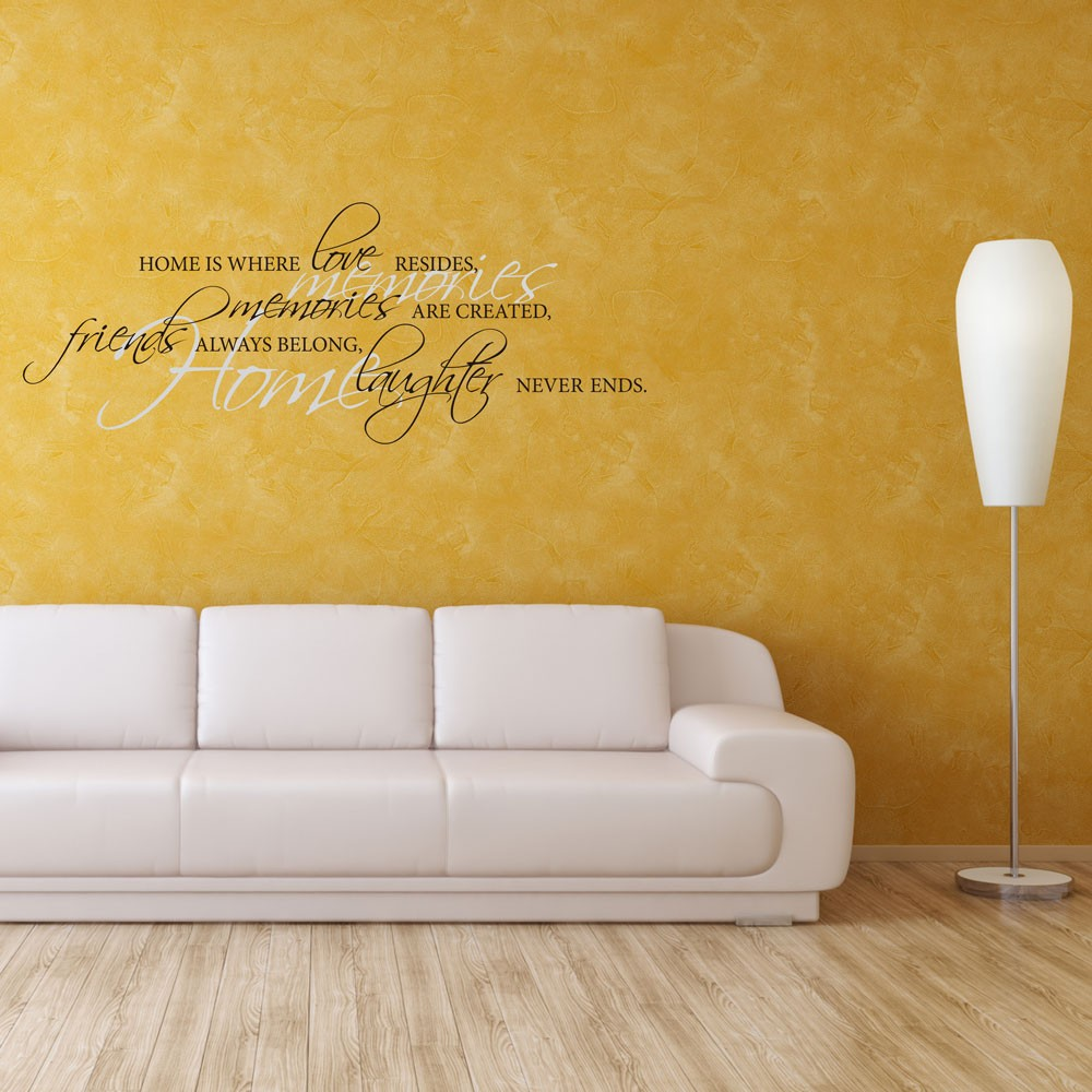 Φ_ΦFamily Lettering Wall Stickers Home Memories Quotes Decals Vinyl ...