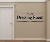 Dressing Room Closet door window sticker Art Vinyl wall ...