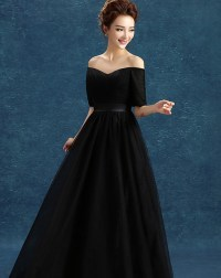 The gallery for --> Elegant Black Dress With Sleeve