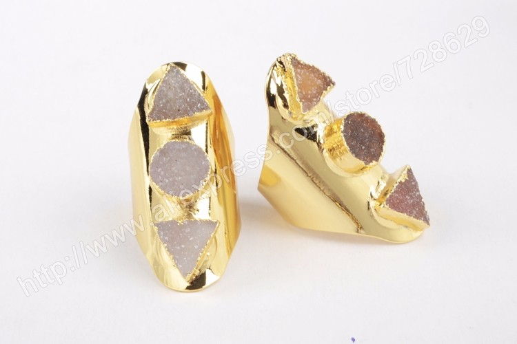 67b6a1266e ⑦BOROSA New Arrival 5Pcs lot Gold Color Three Triangle   Round ...