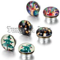 Magnetic Earrings Women : Excellent Green Magnetic ...